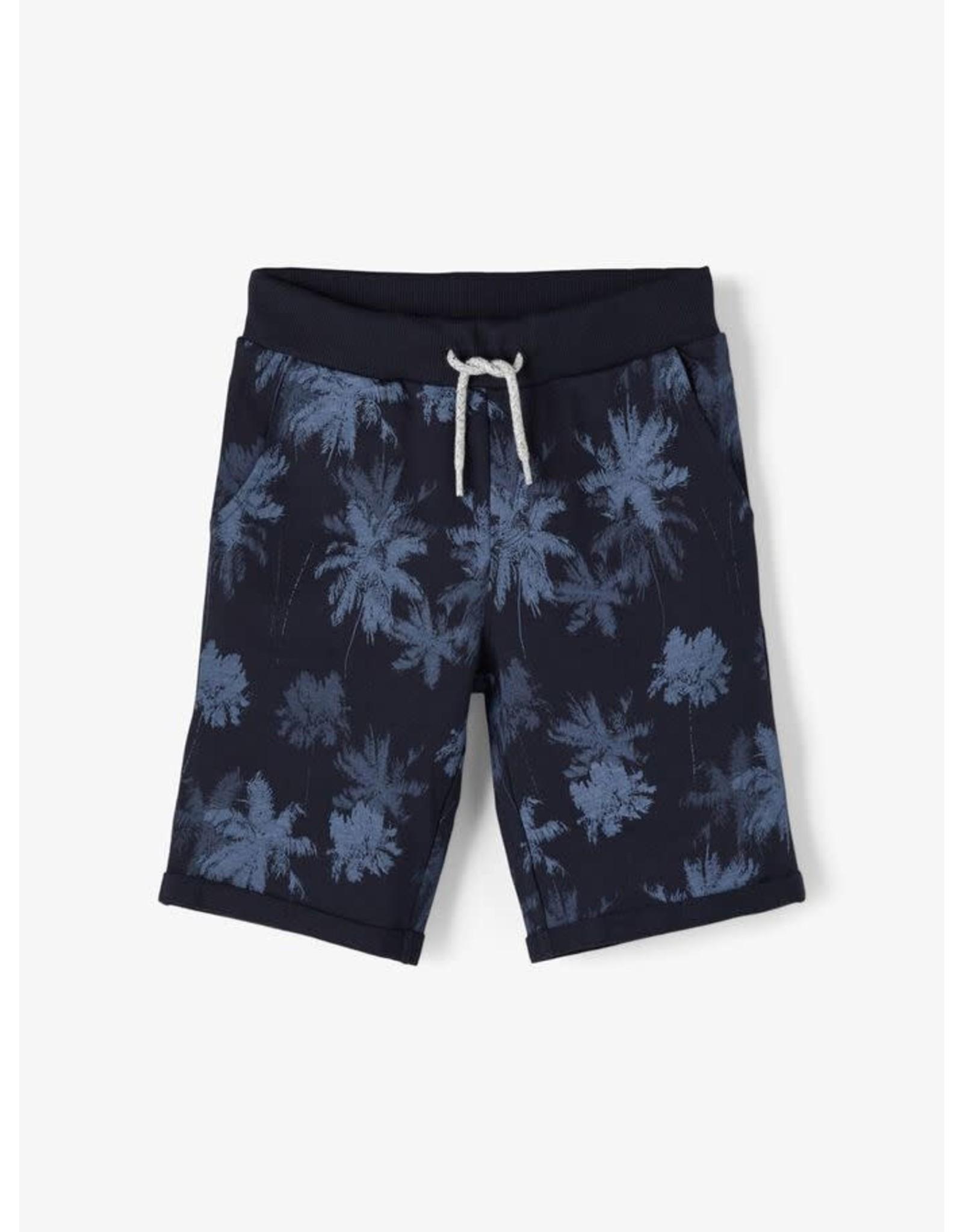 Name It Donkerblauwe palmbomen short