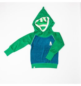 ALBA of Denmark Sponsen blauwe-groene puntmuts hoodie