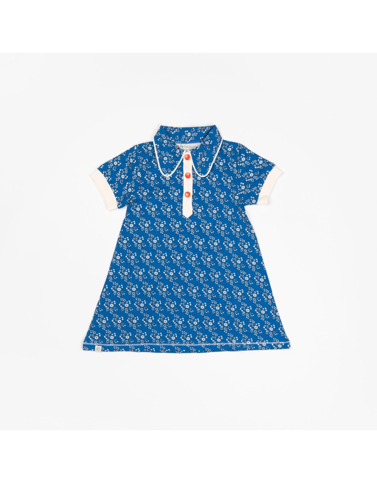 ALBA of Denmark Ultra schattig blauw retro kleedje