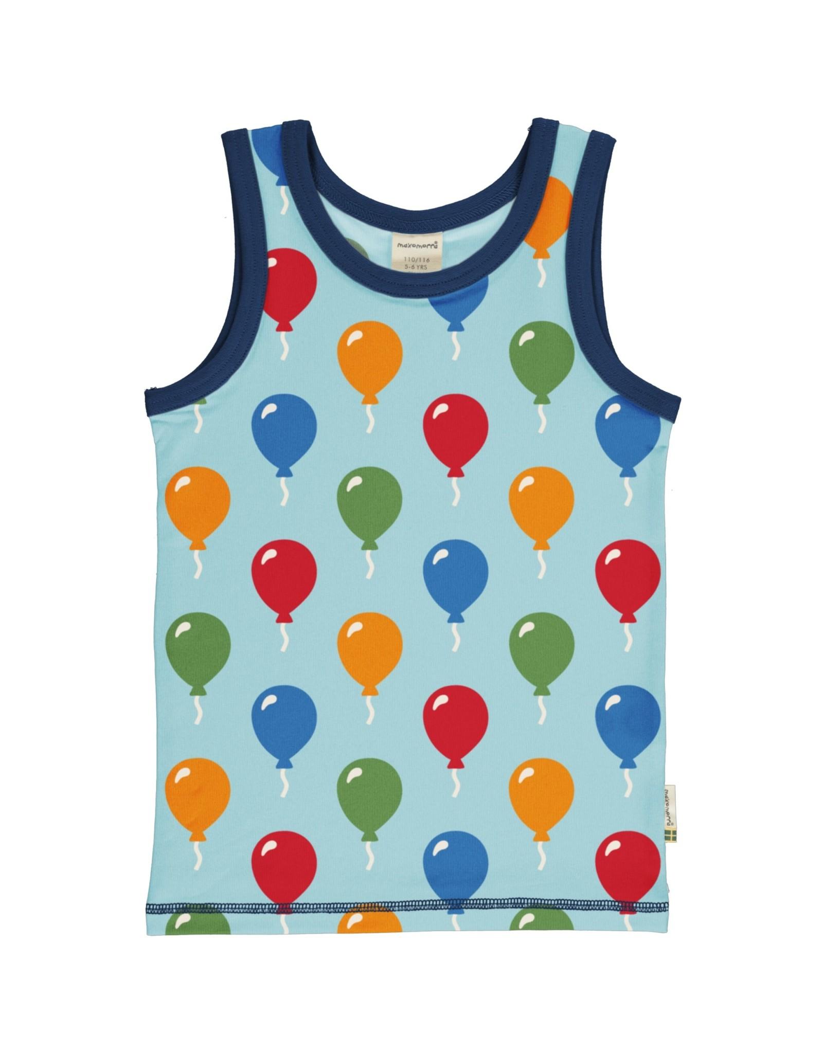 Maxomorra Mouwloze t-shirt met ballonnen