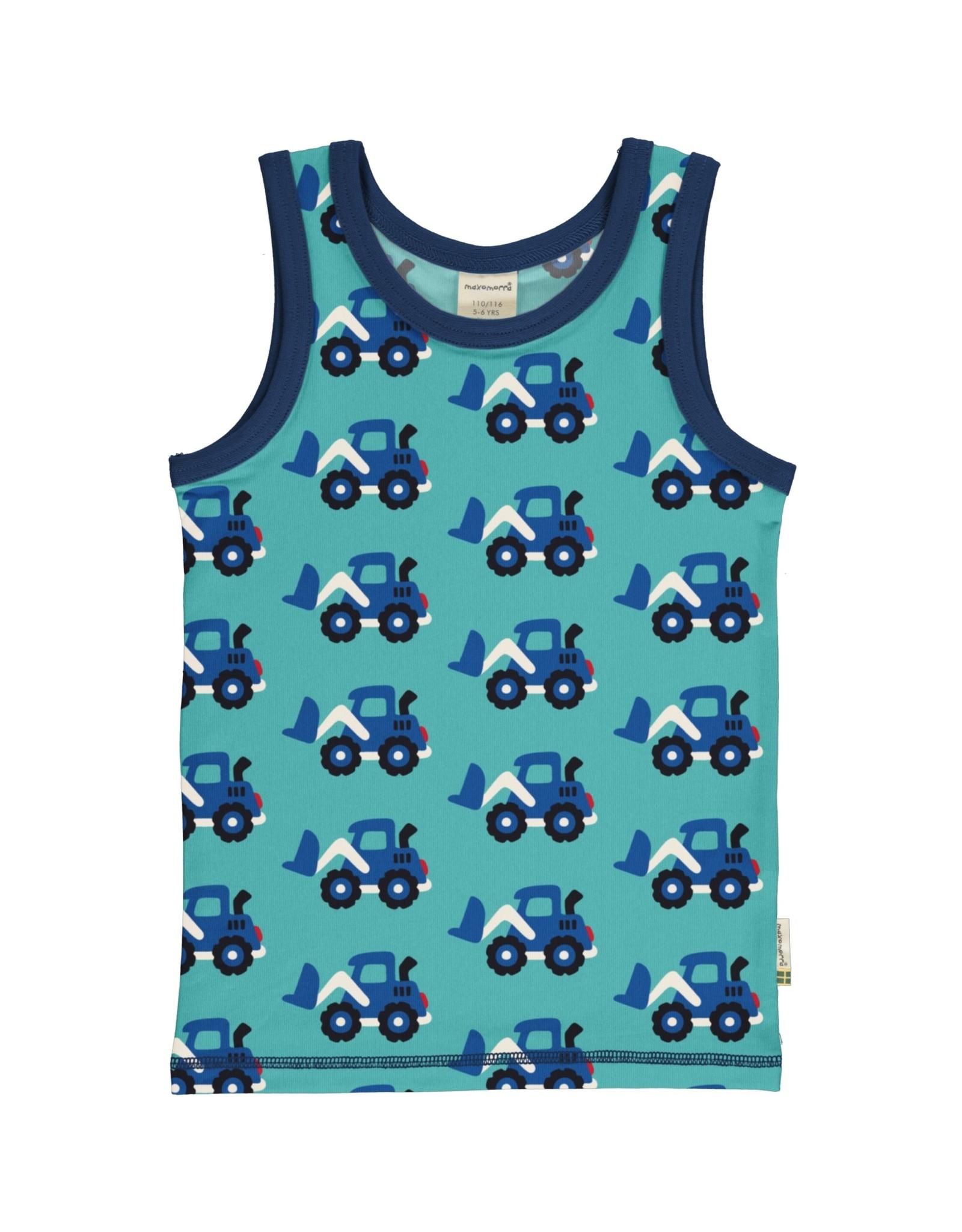 Maxomorra Mouwloze t-shirt met graafmachines