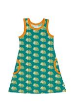 Maxomorra Mouwloze A-lijn jurk met kameleons
