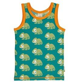 Maxomorra Mouwloze t-shirt met kameleons