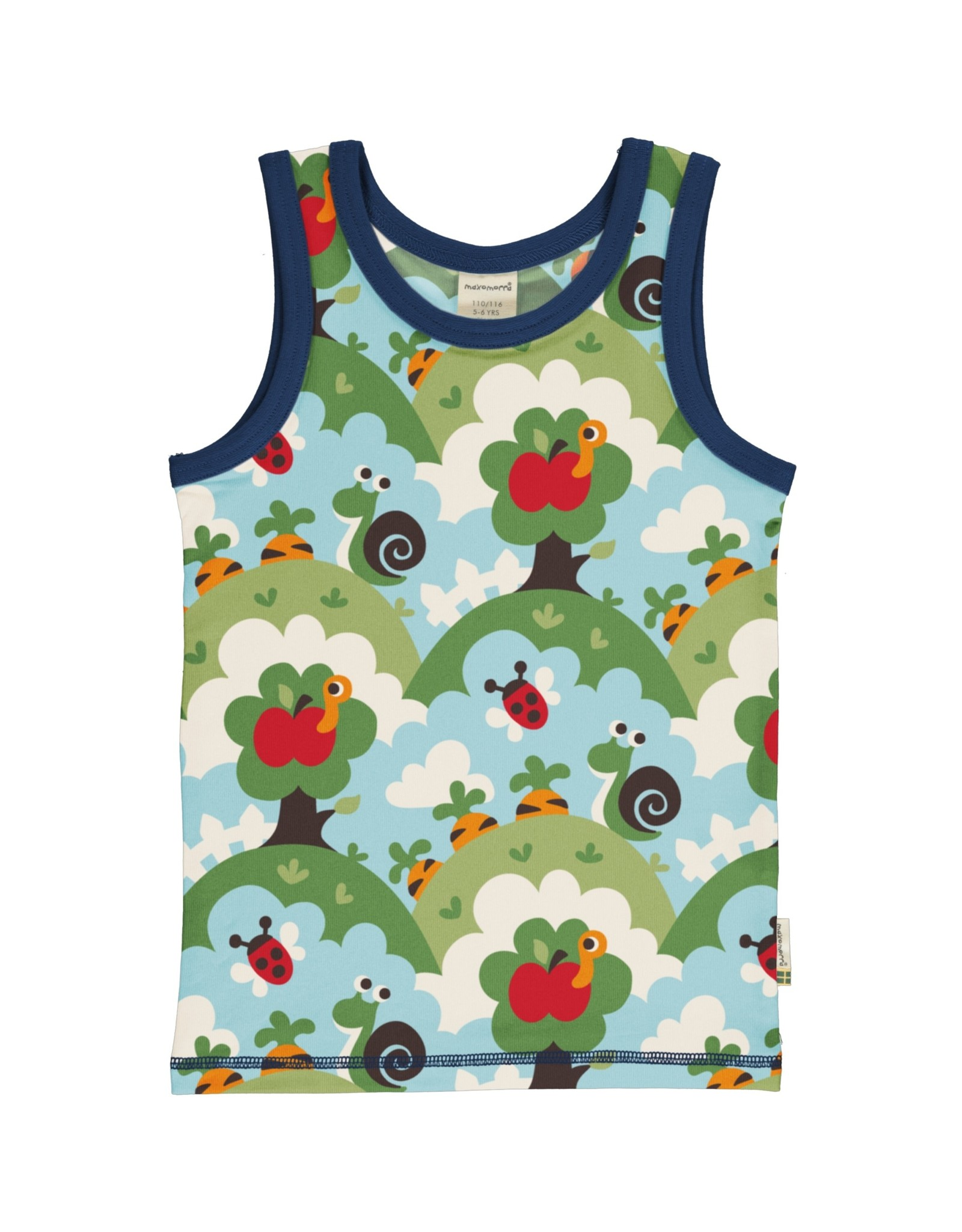 Maxomorra Mouwloze t-shirt met tuintaferelen