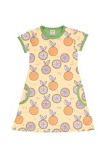 Meyadey A-lijn kleedje met citrusvruchten