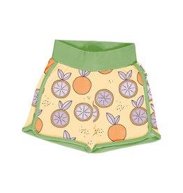 Meyadey Comfortabele short met zomerse citrusvruchten