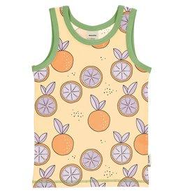 Meyadey Mouwloze t-shirt met appelsienen
