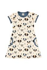 Meyadey A-lijn kleedje met verschillende honden