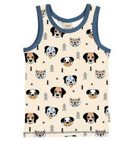 Meyadey Mouwloze t-shirt met verschillende honden