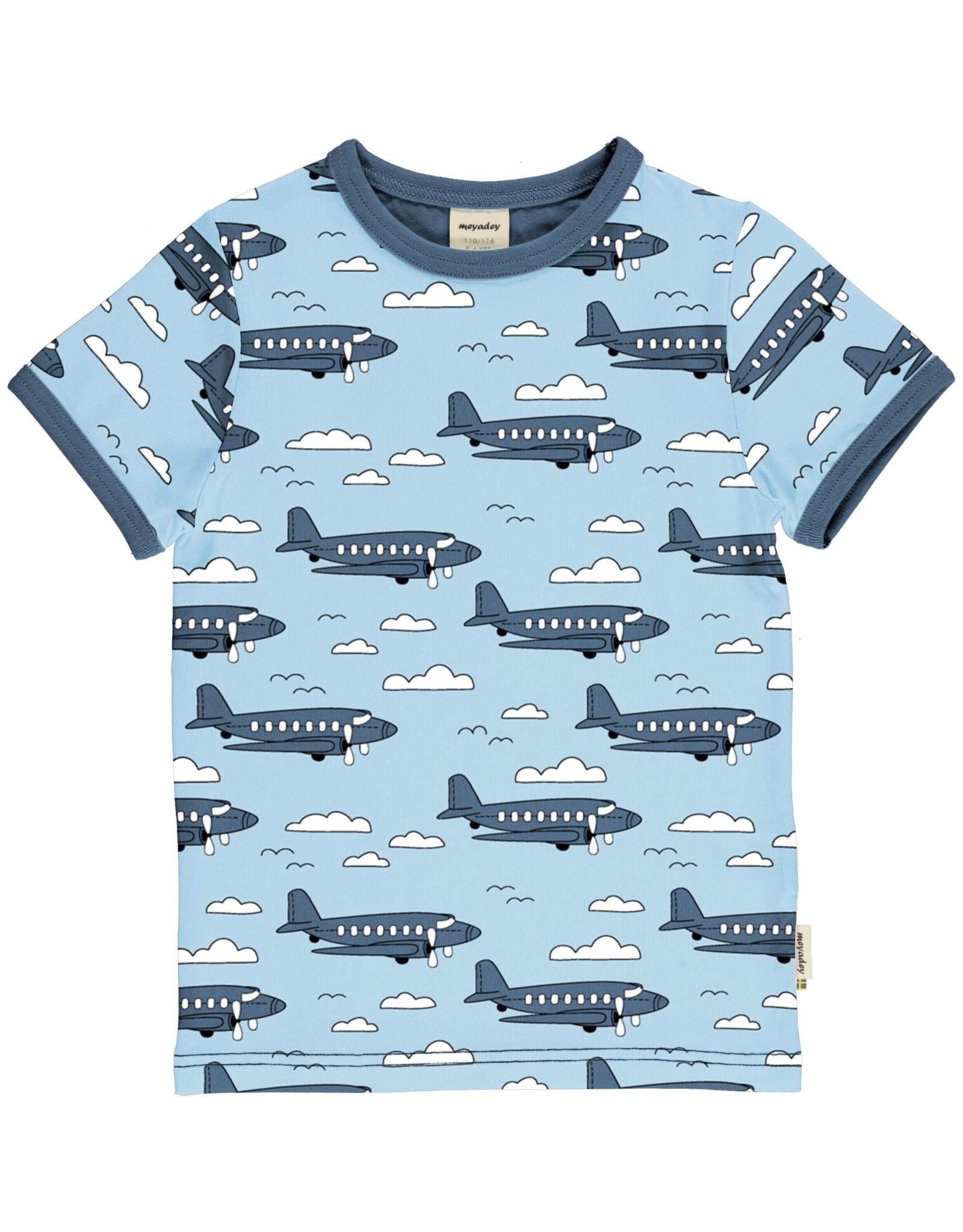Meyadey T-shirt met vliegtuigen
