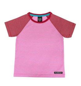 Villervalla Rood-roze gestreepte t-shirt