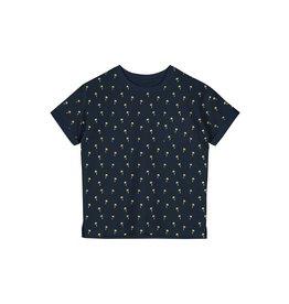 Name It Donkerblauwe t-shirt met gele palmbomen