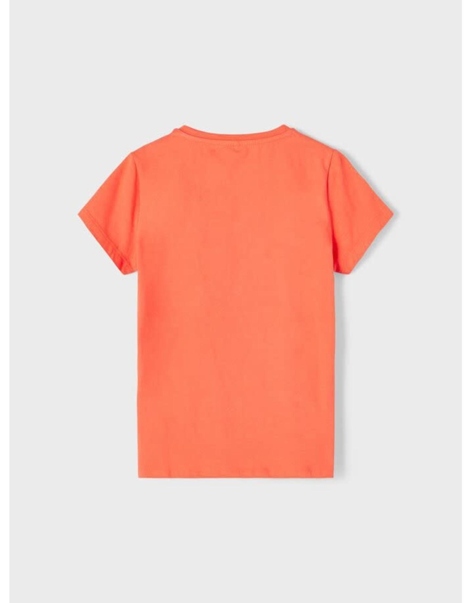 Name It Zonnige oranje t-shirt met bedrukking