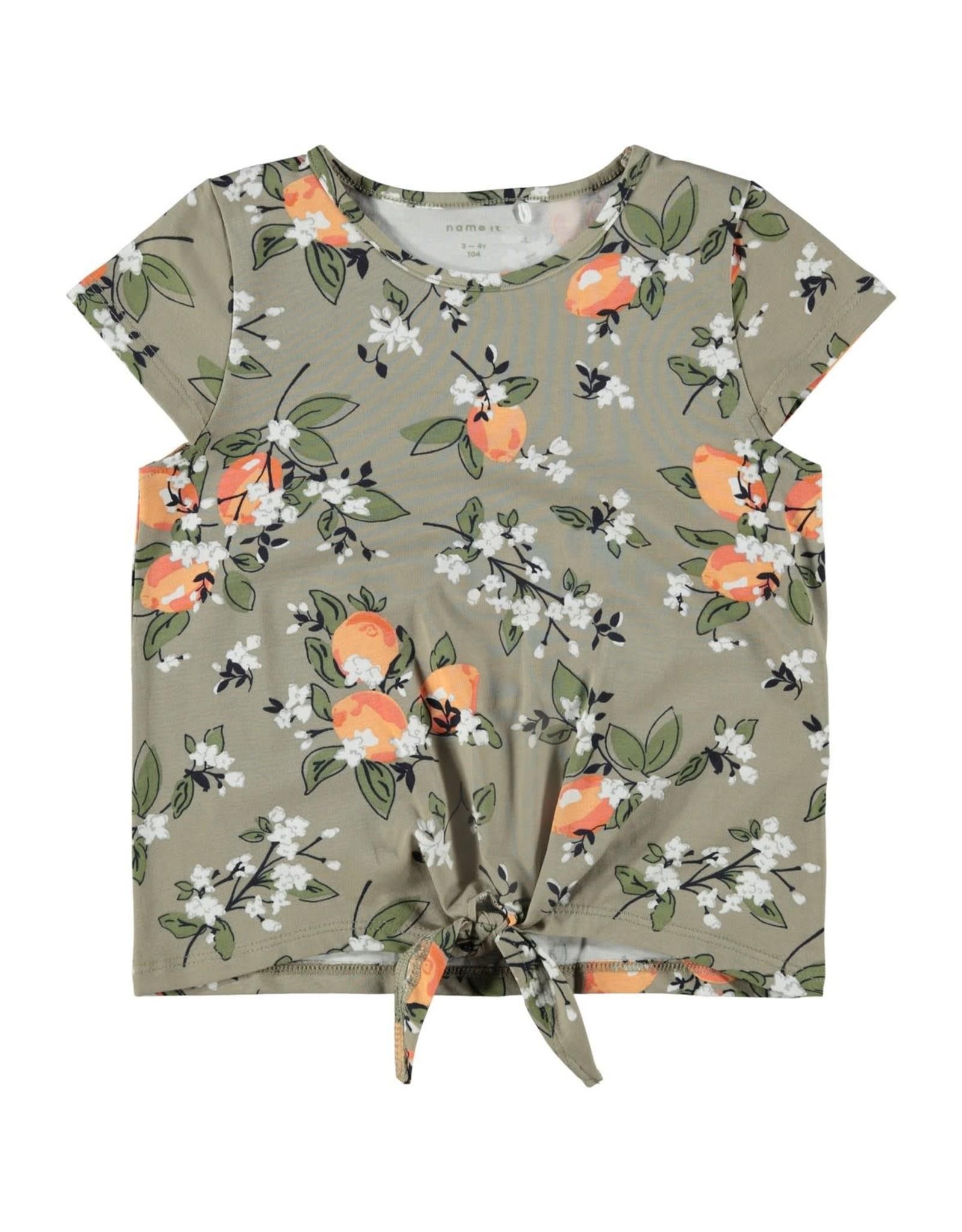 Name It T-shirt met appelsienen print