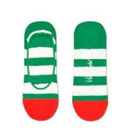 Happy Socks MAAT 36/40 - liner sokken met wit/groene streep