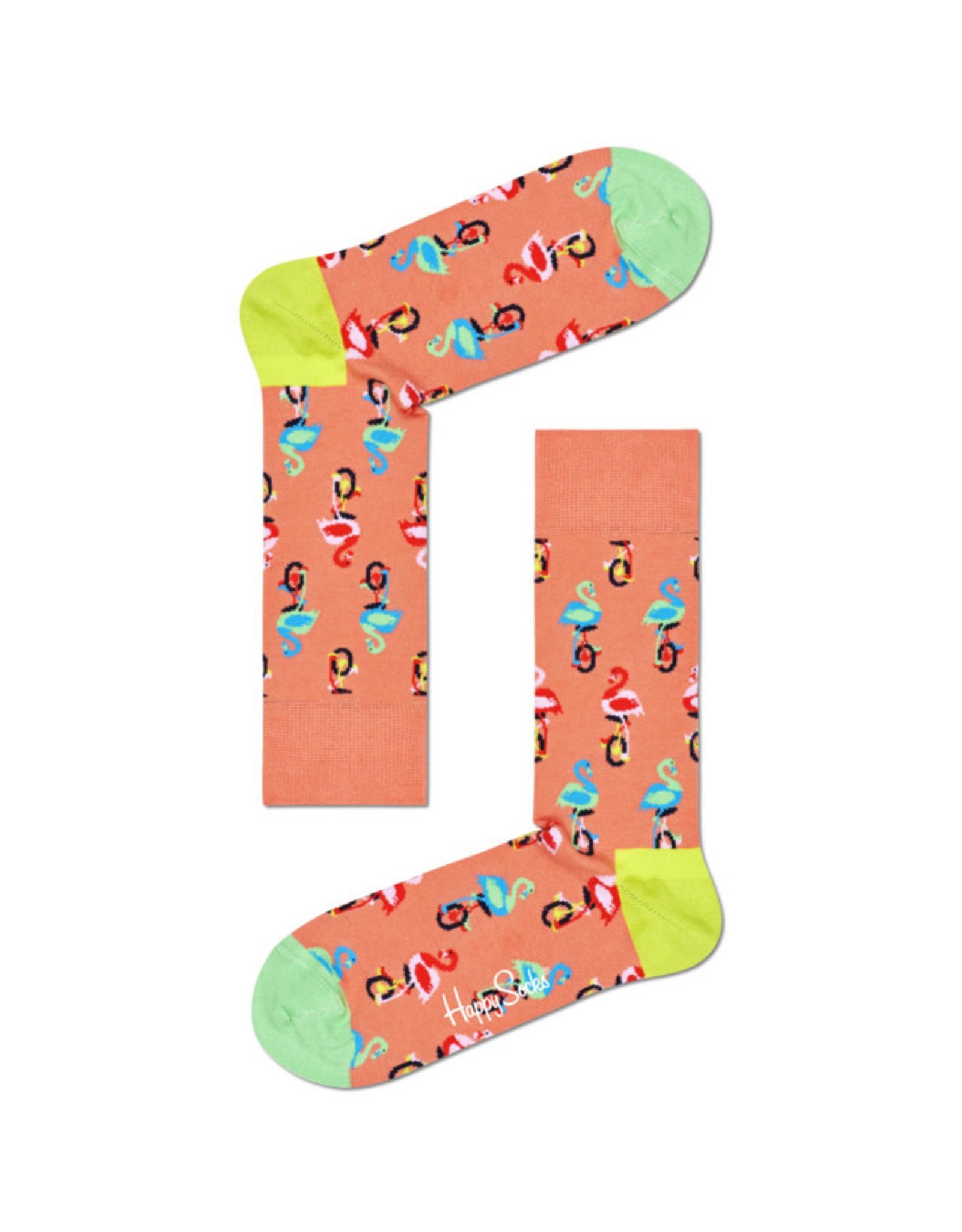Happy Socks MAAT 36/40 - oranje flamingo sokken