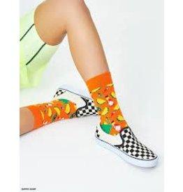 Happy Socks MAAT 36/40 - Oranje taco sokken