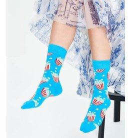 Happy Socks MAAT 36/40 - Blauwe popcorn sokken