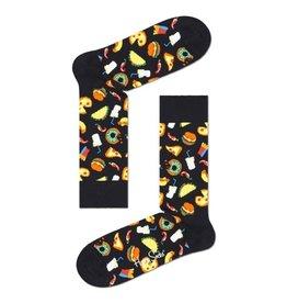 Happy Socks MAAT 36/40 - Zwarte junkfood sokken