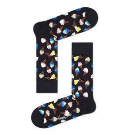 Happy Socks MAAT 36/40 - Zwarte sokken met ijsjes print