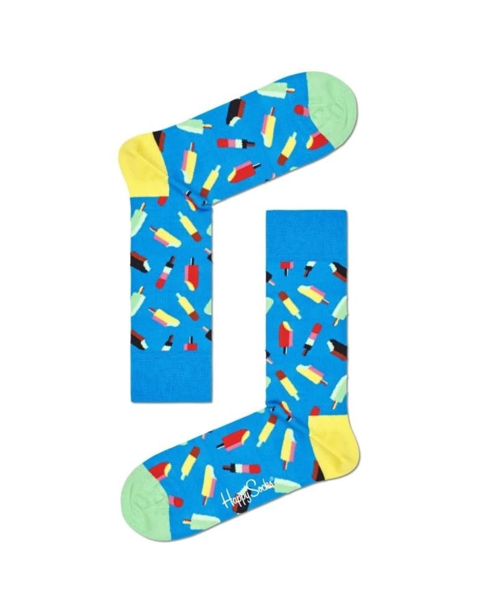 Happy Socks MAAT 36/40 - Blauwe ijsjes sokken