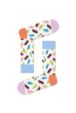 Happy Socks MAAT 36/40 - Witte sokken met ijsjes print