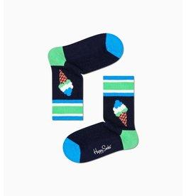 Happy Socks Geribde kindersokken met een ijsje