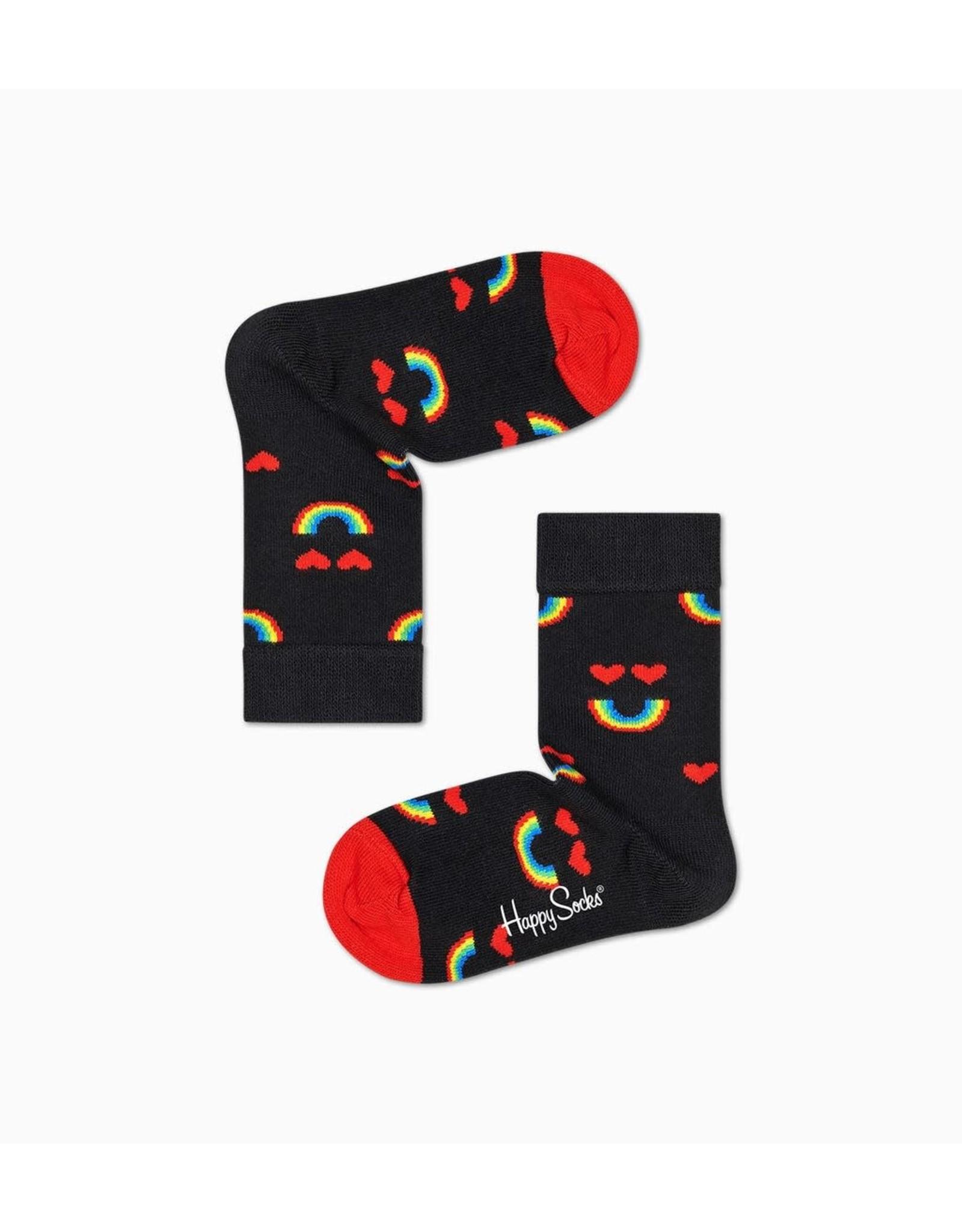 Happy Socks Kindersokken met regenbogen