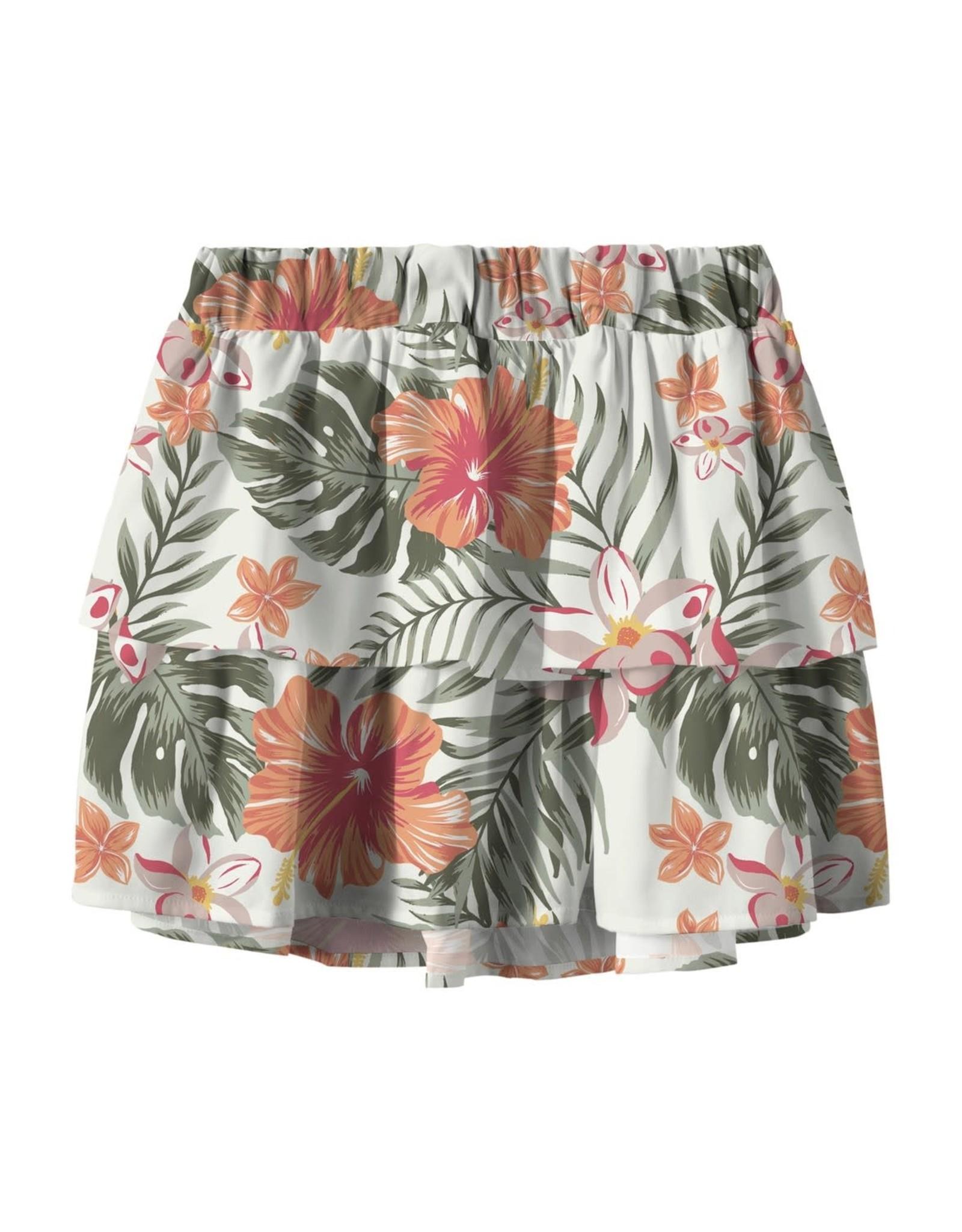Name It Los zomerrokje met tropische print