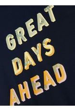 """Name It Donkerblauwe lange jurk """"Great days ahead"""""""