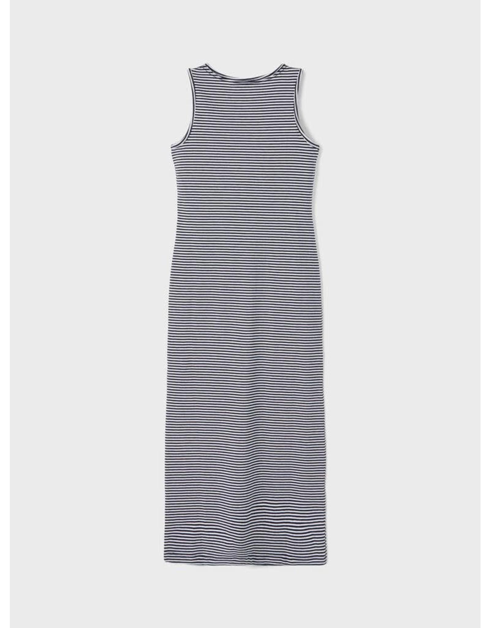 Name It Lang kleedje met blauw witte streepjes