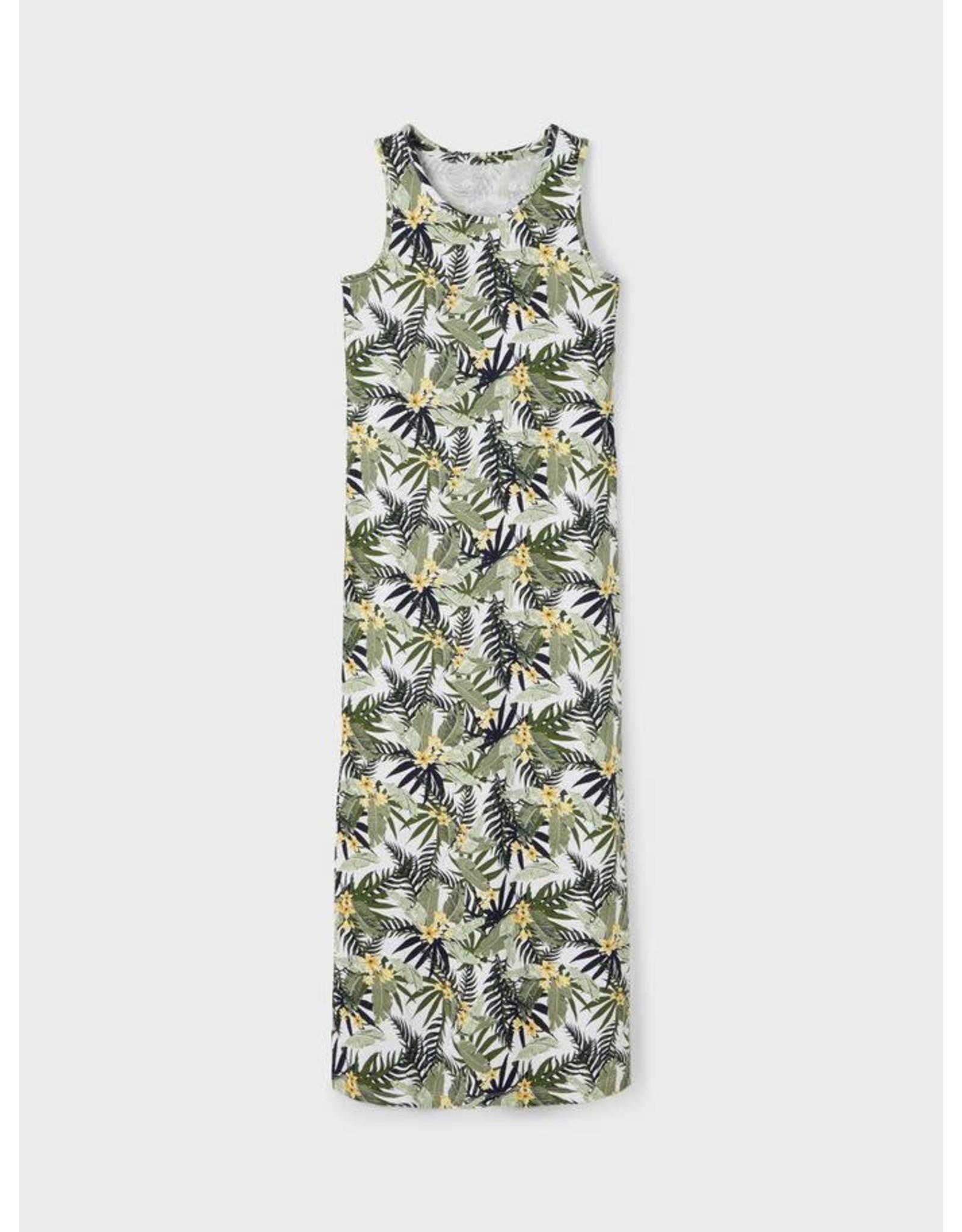 Name It Lang kleedje met tropische print