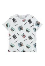 Name It Witte t-shirt met Polaroid toestellen