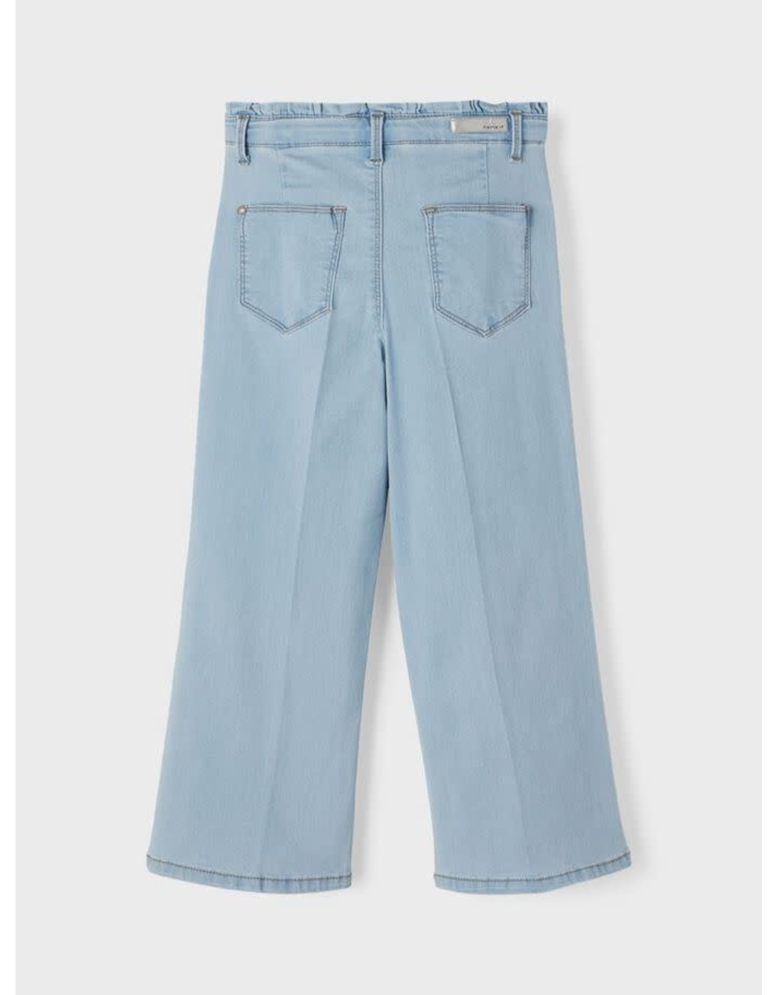Name It Lichtblauwe brede 7/8 high waist jeans