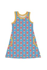 Maxomorra A-lijn kleedje zonder mouwen met ijsjes print