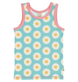 Maxomorra Mouwloze t-shirt met madeliefjes