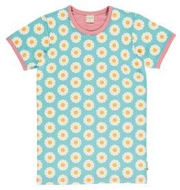 Maxomorra VOLWASSENEN T-shirt met madeliefjes in zachte kleuren