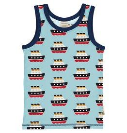 Maxomorra Mouwloze t-shirt met boten print