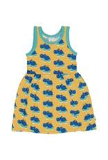 Maxomorra Mouwloos zwierkleedje met nijlpaarden print