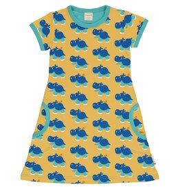 Maxomorra A-lijn kleedje met korte mouwen en nijlpaarden