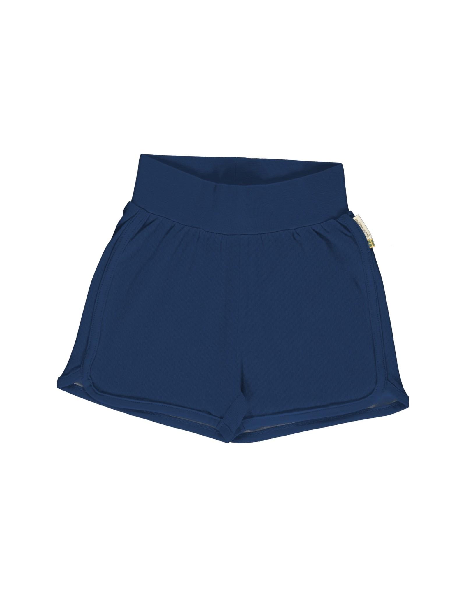 Maxomorra Unisex runner short donkerblauw