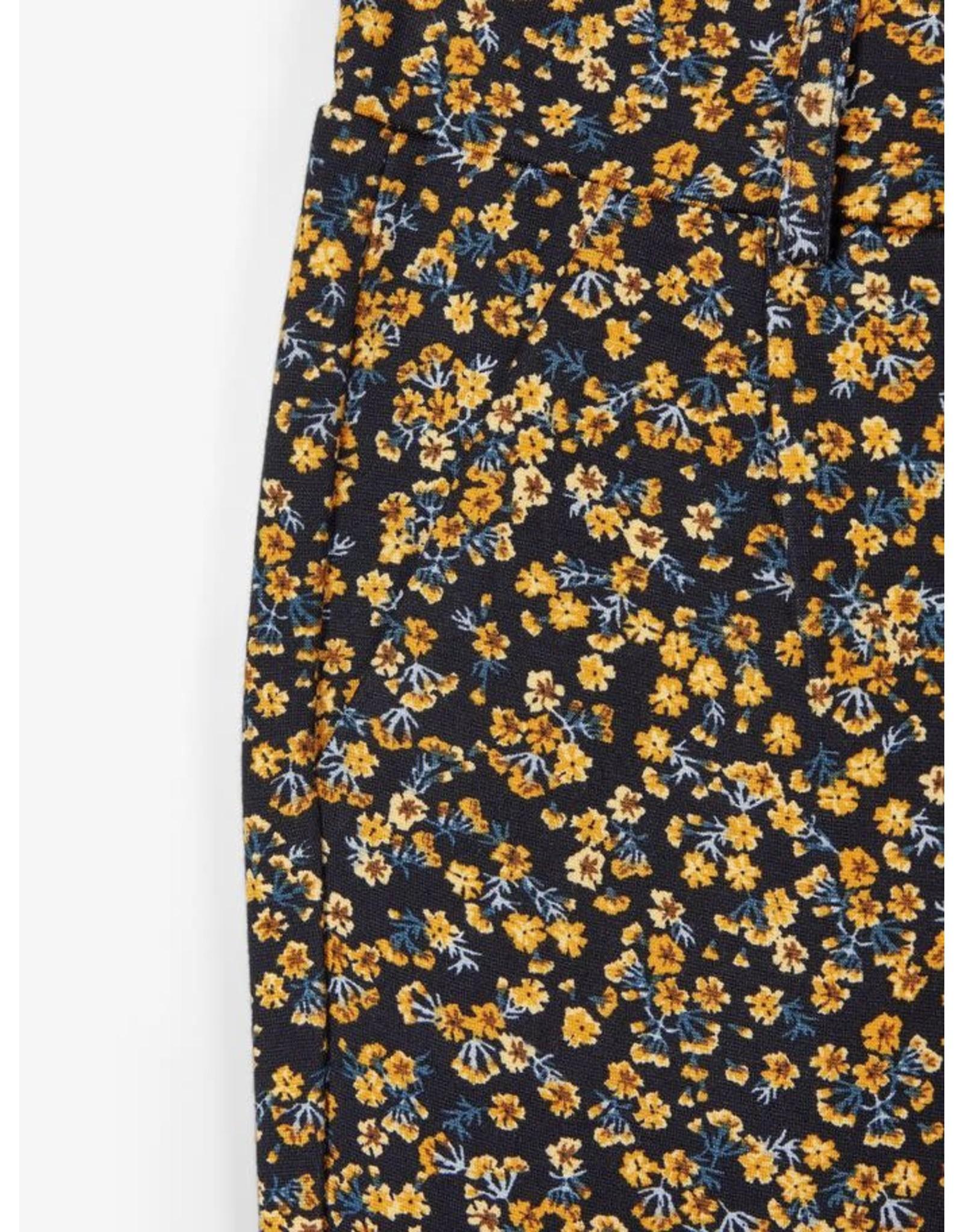 Name It Soepele meisjes broek met bloemetjes