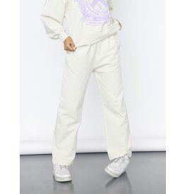 Name It Witte jogging broek voor meisjes met rechte pijpen
