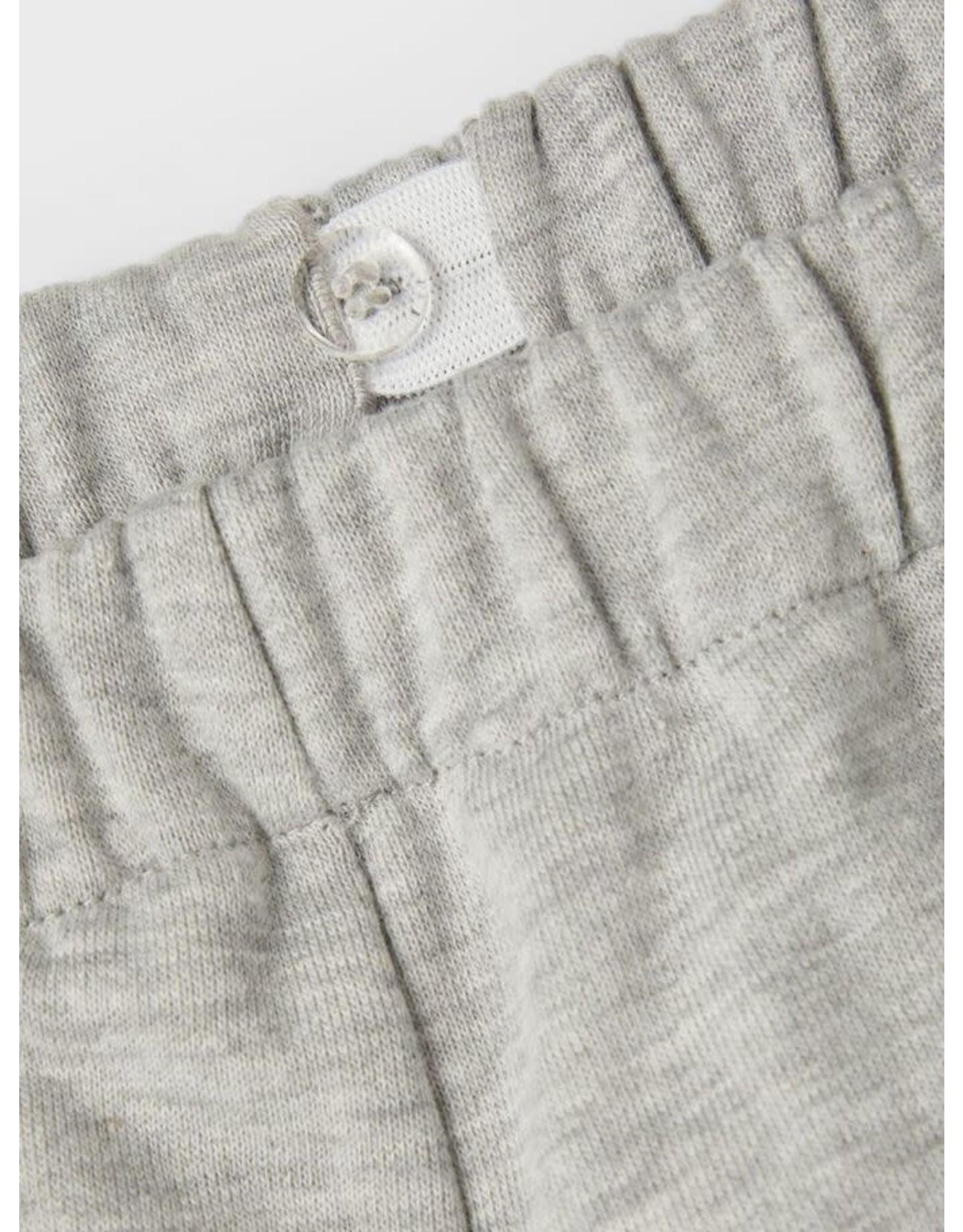 Name It Grijze jogging broek voor meisjes met rechte pijpen