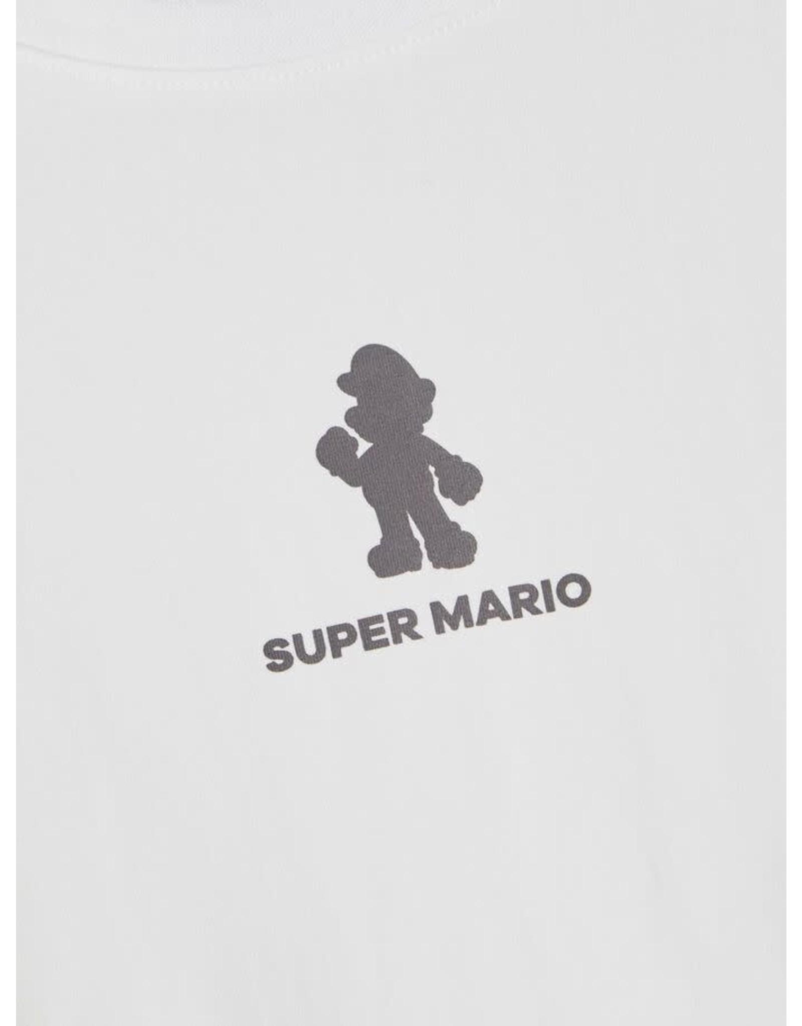 Name It Witte tiener t-shirt met kleine Mario print