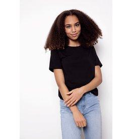 Name It Zwarte t-shirt breder/korter model