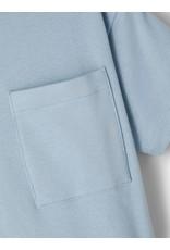 Name It Super zachte lichtblauwe t-shirt met borstzakje
