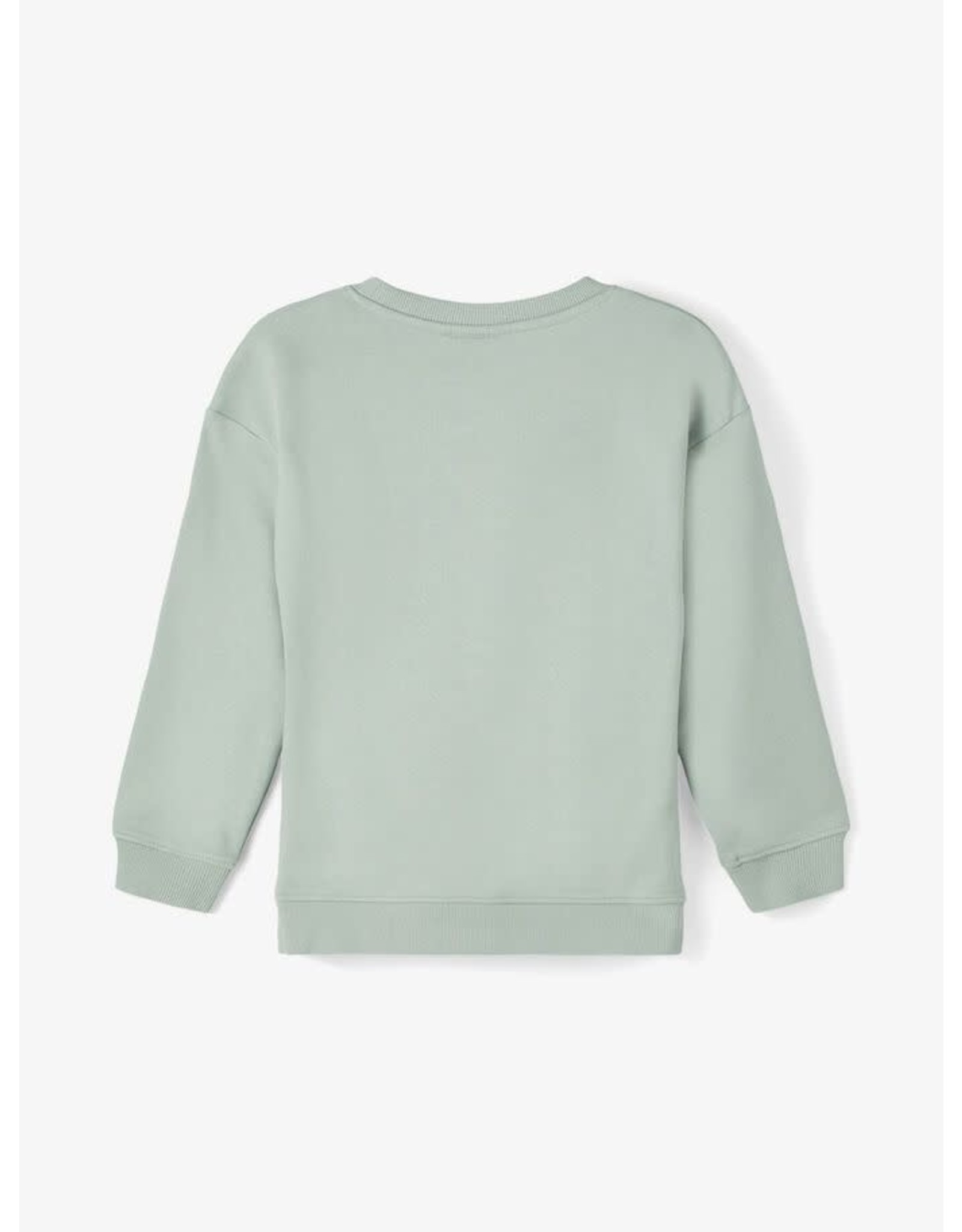 Name It Zacht groene katoenen sweatstof trui