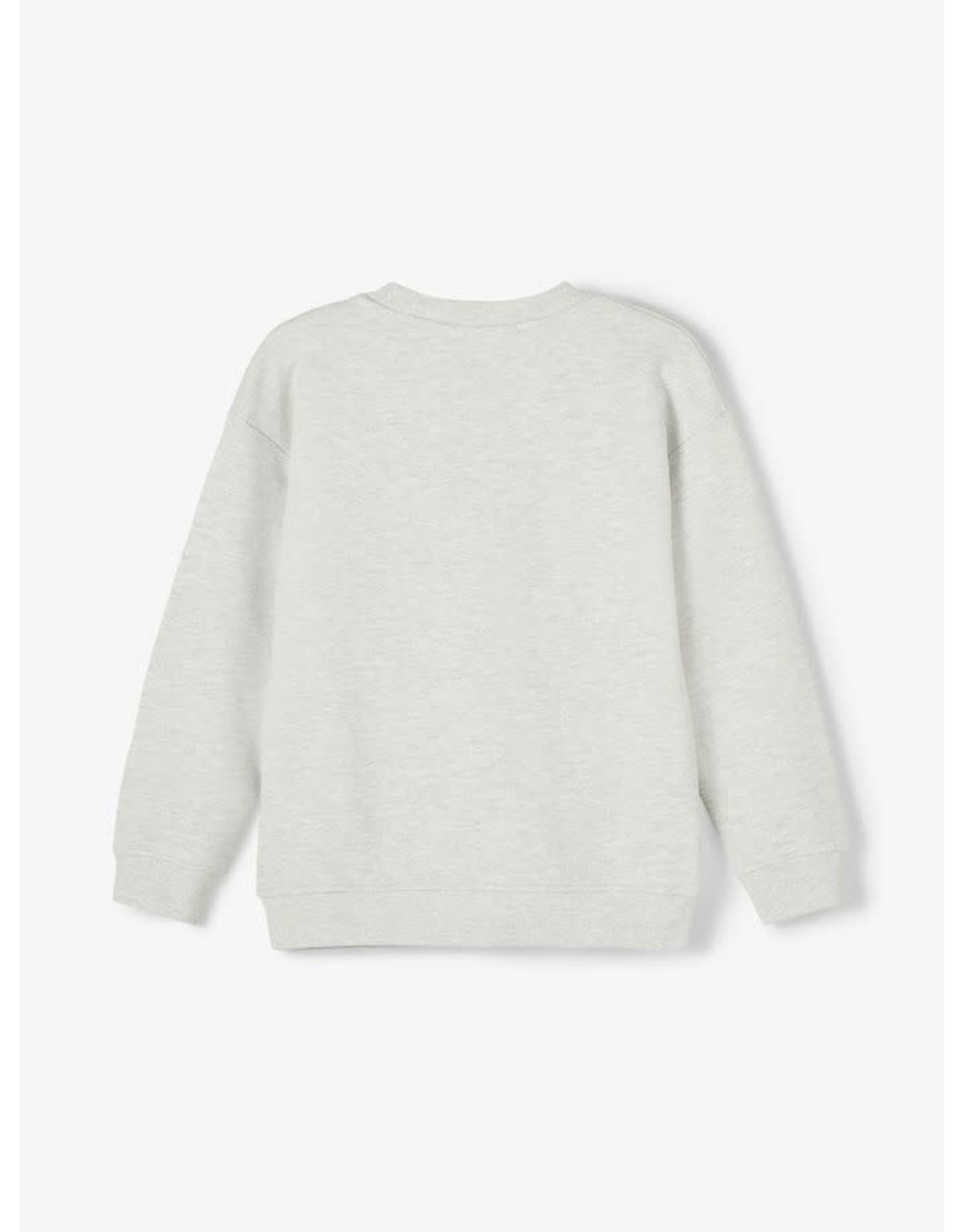Name It Grijze katoenen sweatstof trui