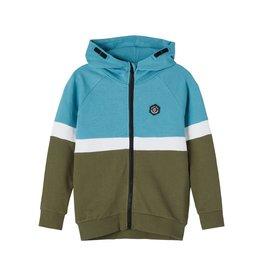 Name It Leuke colour block hoodie trui met rits